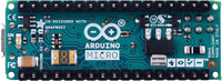 Arduino Micro, bottom view.