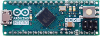 Arduino Micro, top view.