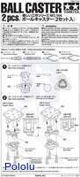 Instructions for Tamiya 70144 Ball Caster (2pcs.) page 1.