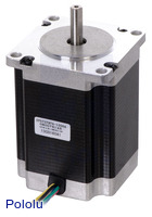 Stepper Motor: Unipolar/Bipolar, 200 Steps/Rev, 57×76mm, 8.6V, 1 A/Phase