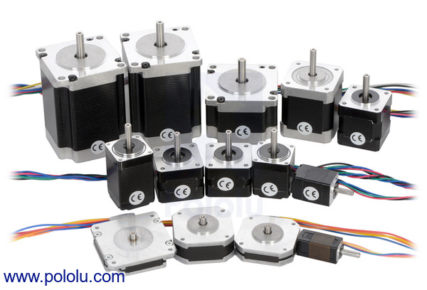 Pololu stepper motors for Nema stepper motor sizes