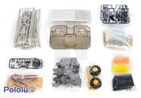 Parts included with the Tamiya 70162 Remote Control Construction Set (tire type).
