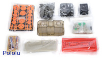 Parts included with the Tamiya 70170 Remote Control Construction Set (crawler type).