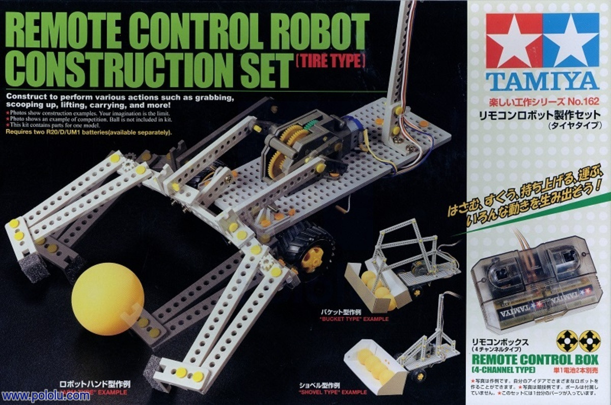 Pololu - Tamiya 70162 Remote Control Construction Set (tire type)