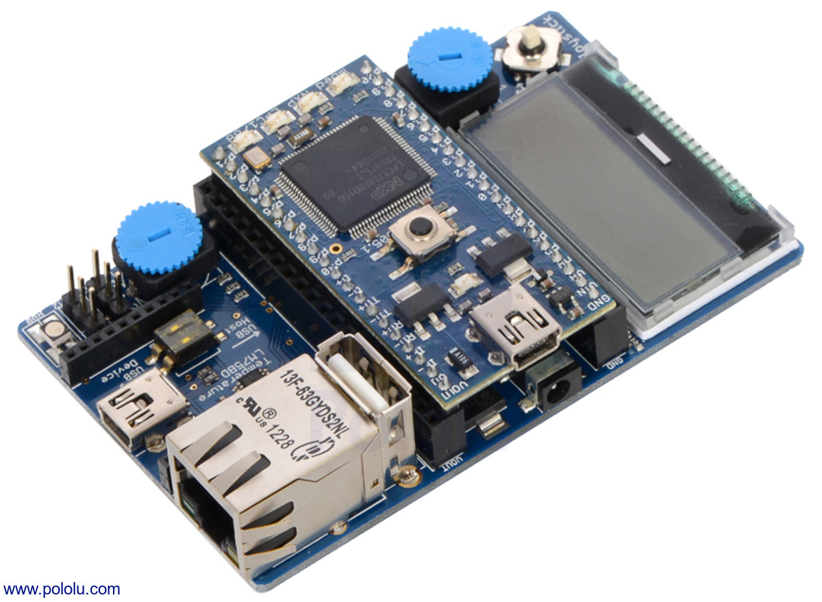 Pololu - ARM mbed application board with ARM mbed NXP
