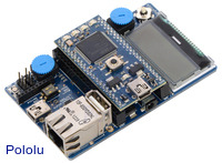 ARM mbed application board with ARM mbed NXP LPC1768 development board (sold separately).