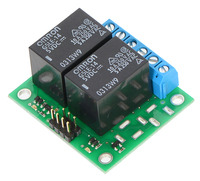 Pololu basic 2-channel SPDT relay carrier with 5VDC relays (assembled).