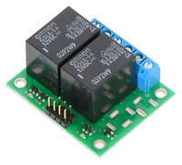 Pololu Basic 2-Channel SPDT Relay Carrier with 12VDC Relays (Assembled)