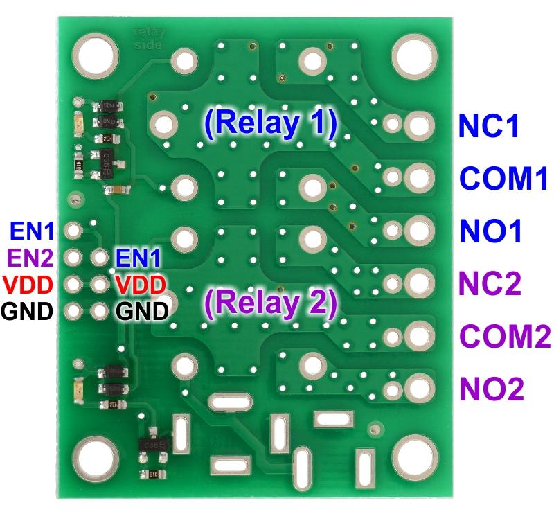 0J4554.1200?f24b645cdd61fc0430029c377845af10 pololu basic 2 channel spdt relay carrier for \