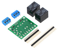 Pololu Basic 2-Channel SPDT Relay Carrier with 5VDC Relays (Partial Kit)