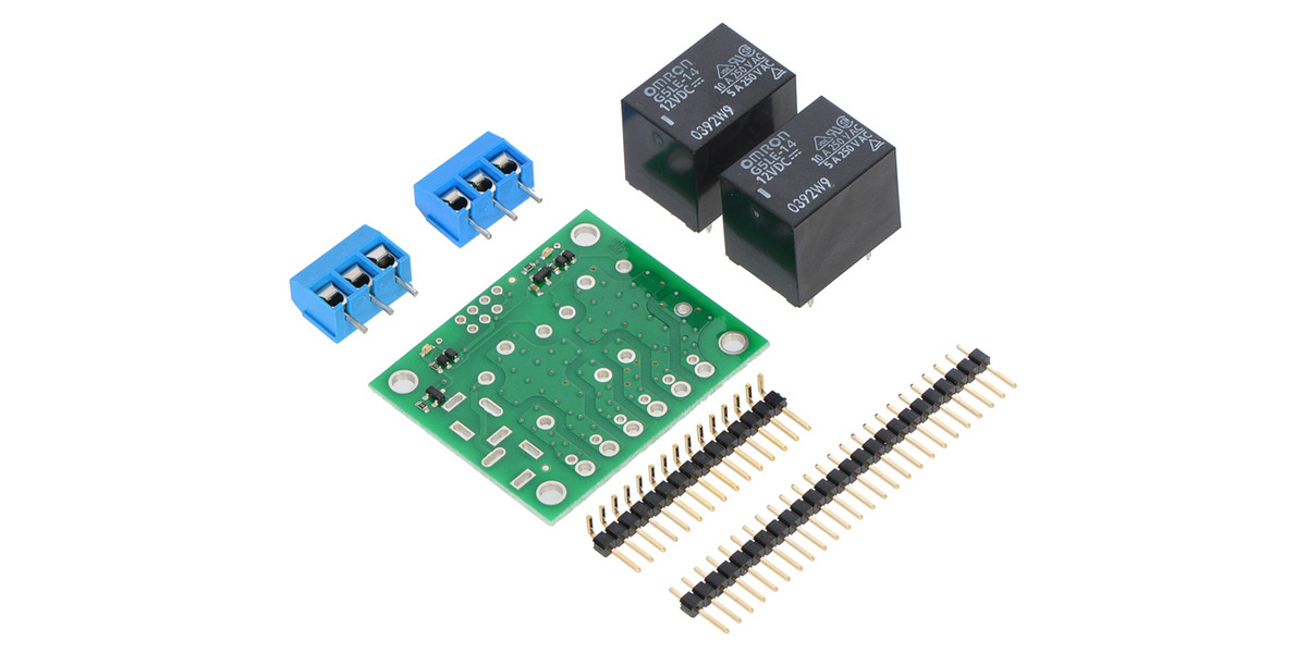 Pololu basic 2-channel SPDT relay carrier with 12 VDC relays (partial ...