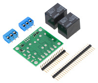 Pololu Basic 2-Channel SPDT Relay Carrier with 12VDC Relays (Partial Kit)