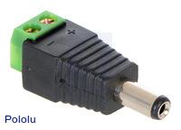 DC Barrel Plug to 2-Pin Terminal Block Adapter