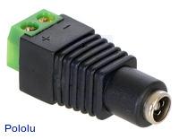 DC Barrel Jack to 2-Pin Terminal Block Adapter