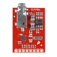 Evaluation Board for Si4703 FM Tuner, top view.