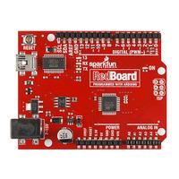 SparkFun RedBoard (an Arduino Uno R3 clone), top view.