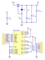 TB6612FNG dual motor driver carrier schematic diagram (latest version with all ceramic capacitors).