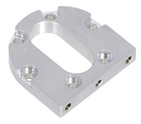 Pololu machined aluminum bracket for 37D mm metal gearmotors.