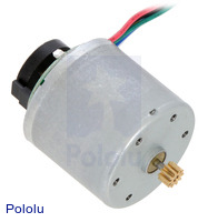 37D mm motor with 64 CPR encoder (no gearbox, no end cap).