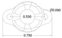 Pololu 3/8 inch plastic ball caster dimensions (unit: inch)