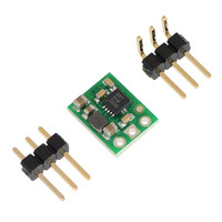 Pololu 5V step-up voltage regulator U1V10F5 with included optional header pins.