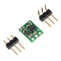 Pololu 5V step-up voltage regulator U1V10F5 with included optional header pins.