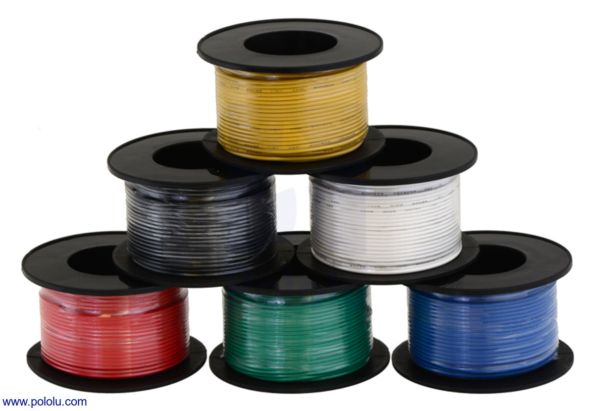 Pololu - Stranded Wire: Black, 20 AWG, 40 Feet