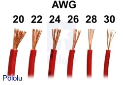 Pololu stranded wire red 28 awg 90 feet we carry stranded hook up wire in an assortment of gauges and colors greentooth Gallery
