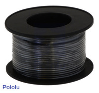 Stranded Wire: Black, 22 AWG, 50 Feet