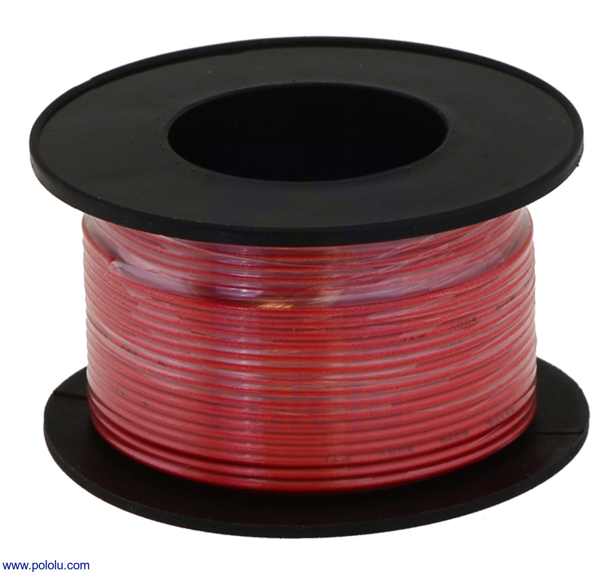Pololu - Stranded Wire: Red, 22 AWG, 50 Feet