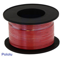 Stranded Wire: Red, 28 AWG, 90 Feet