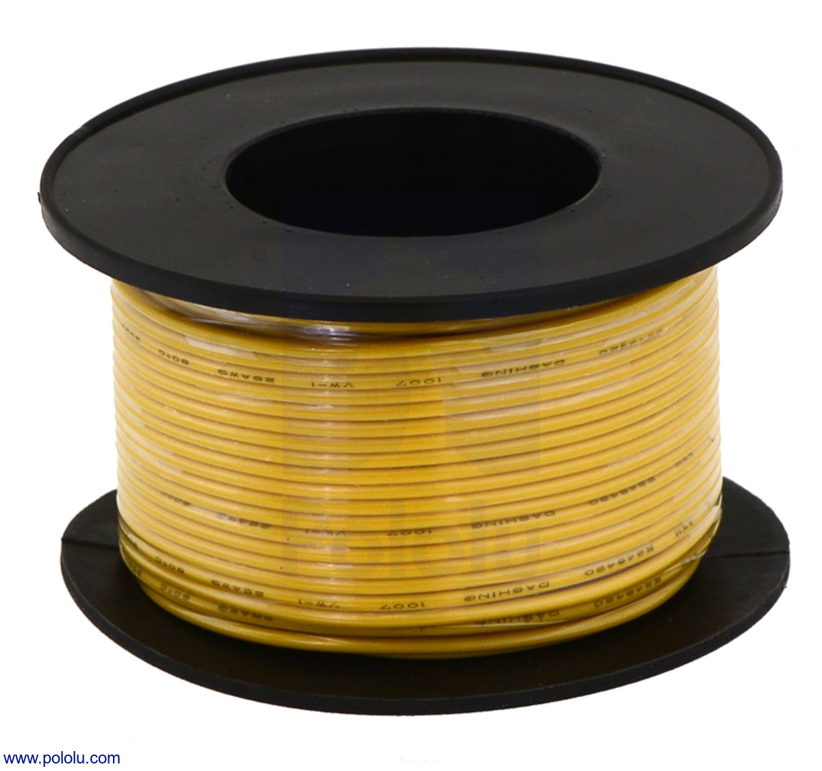 Pololu - Stranded Wire: Yellow, 20 AWG, 40 Feet