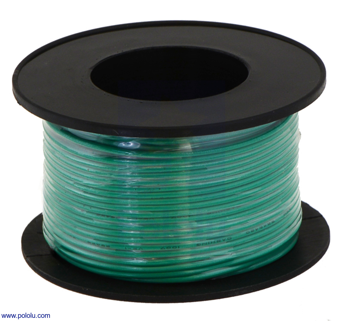 Pololu - Stranded Wire: Green, 24 AWG, 60 Feet