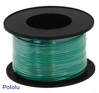Stranded Wire: Green, 22 AWG, 50 Feet