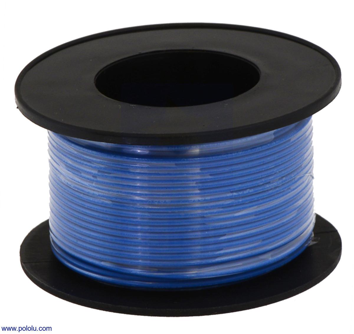 Pololu - Stranded Wire: Blue, 24 AWG, 60 Feet
