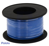 Stranded Wire: Blue, 30 AWG, 100 Feet
