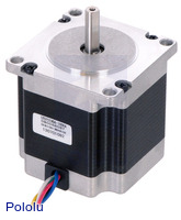 Stepper Motor: Unipolar/Bipolar, 200 Steps/Rev, 57×56mm, 7.4V, 1 A/Phase