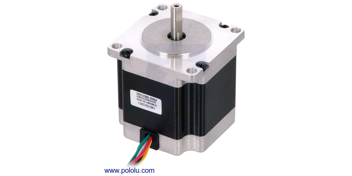 Pololu stepper motor unipolar bipolar 200 steps rev for Unipolar and bipolar stepper motor