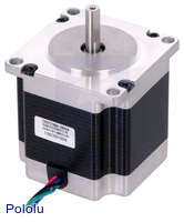 Stepper Motor: Bipolar, 200 Steps/Rev, 57×56mm, 2.5V, 2.8 A/Phase