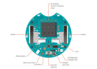 Arduino Robot hardware diagram, top view of Motor Board.