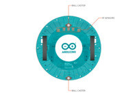 Arduino Robot hardware diagram, bottom view of Motor Board.