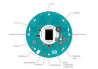 Arduino Robot hardware diagram, top view of Control Board