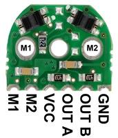 Micro metal gearmotor reflective optical encoder pinout.