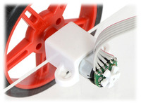Example of an installed micro metal gearmotor reflective optical encoder.