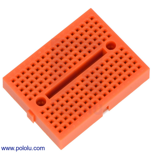 Just in time for Halloween: Orange breadboards