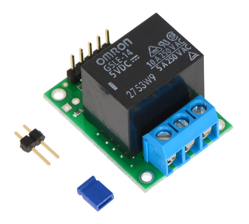 pololu rc switch with relay assembled rh pololu com Headlight Relay Switch Timer Relay Switch