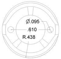Pololu 3/4 inch metal ball caster dimensions (unit: inch)