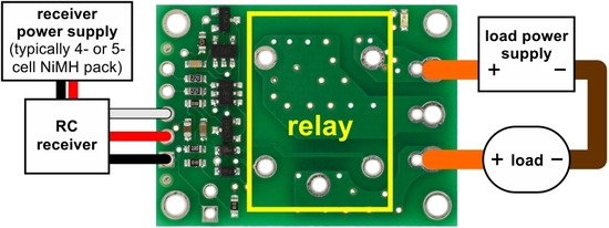 Pololu 5 2 Connecting the RC Switch with Relay
