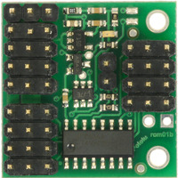 Pololu 4-Channel RC Servo Multiplexer (assembled with header pins), top view.