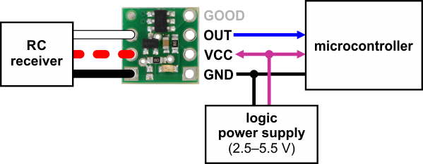 pololu rc switch user s guide typical wiring diagram for the pololu rc switch digital output